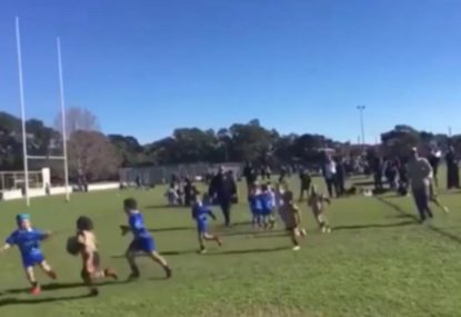 5-year-old girl puts on fending masterclass for epic try