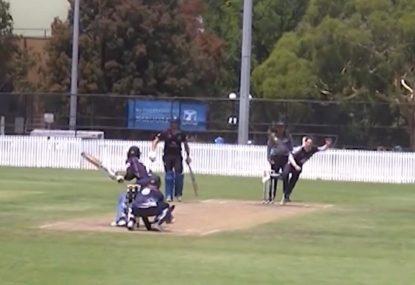 Maxwell clone grade cricketer hammers audacious reverse slog-sweep