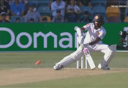 Dickwella brings shades of the Big Bash to the Test arena with ramp shot