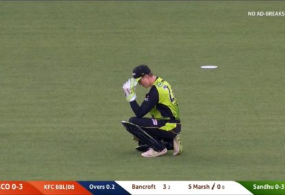 Debuting Thunder keeper drops an absolute soda to spare Shaun Marsh