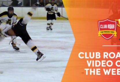 CLUB ROAR VIDEO OF THE WEEK: Massive blindside check sends player into BACK FLIP!