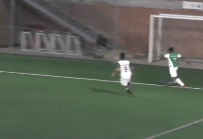 Lazy defender's protest fall on deaf ears after sublime goal