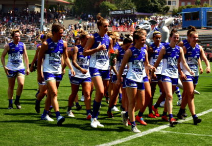 North Melbourne Kangaroos vs Western Bulldogs: AFLW live scores, blog