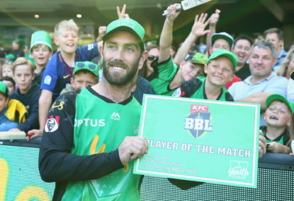 Glenn Maxwell of the Melbourne Stars