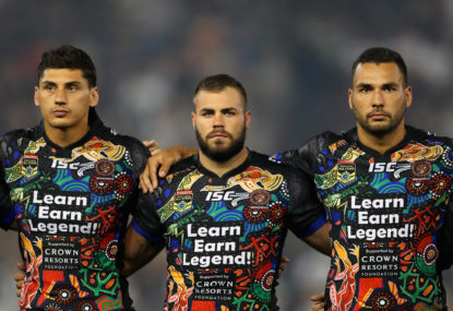 No need to play the anthem before the NRL All Stars game