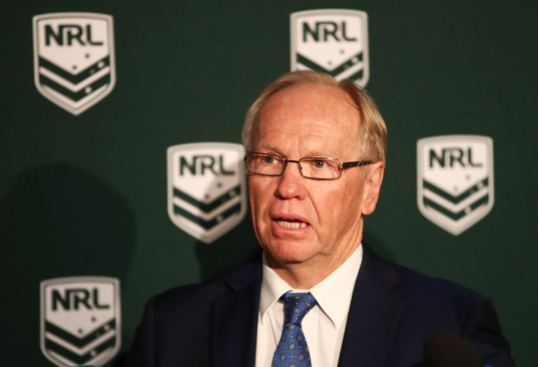 ARL Commission Chairman Peter Beattie speaks to the media
