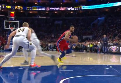 Ben Simmons puts Nugget on skates with filthy fake