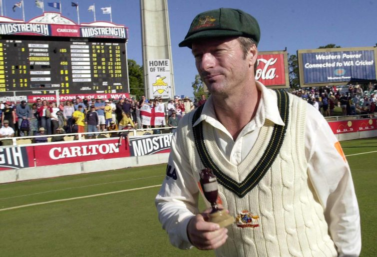 Steve Waugh looking thrilled