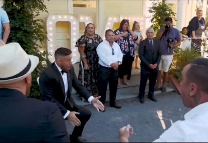 TJ Perenara's heartwarming haka at his own surprise wedding