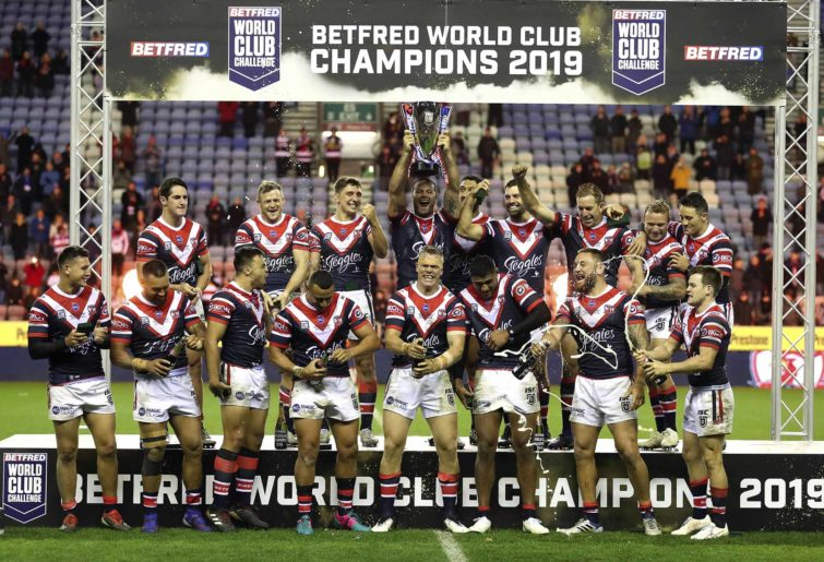World Club Challenge winners the Sydney Roosters