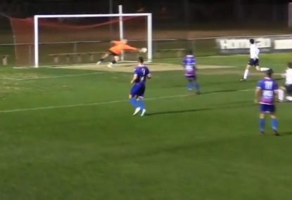 Goalie makes one of the saves of the season after scorching shot