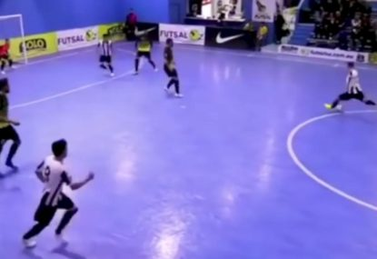 The Master of Futsal calmly fires home a rocket