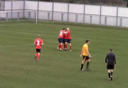 Inch-perfect lob splits the defence apart for stunning goal