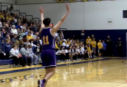 This powerful dunk is worthy of a celebration dance