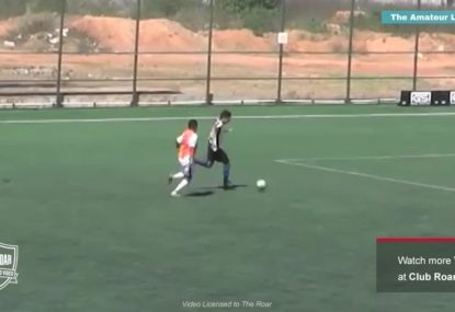 Dumb defender's horrible trip is the most blatant penalty ever