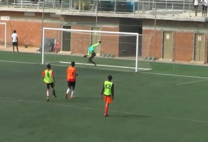 Casual Colin nonchalantly scores world-class goal from long range