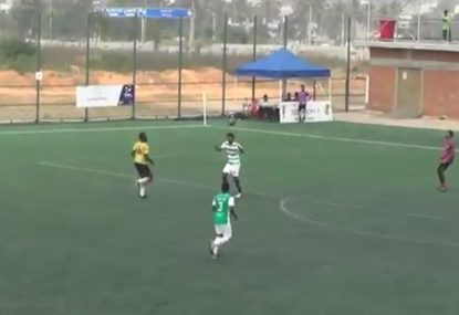 Defender's diabolical header sails straight over his OWN keeper