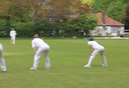 When the captain is off so you give yourself five slips to bowl straight ones...