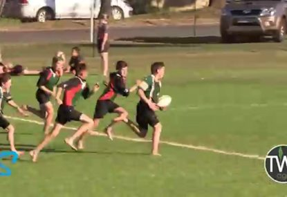 Flawless inside ball puts barefoot youngster away for try