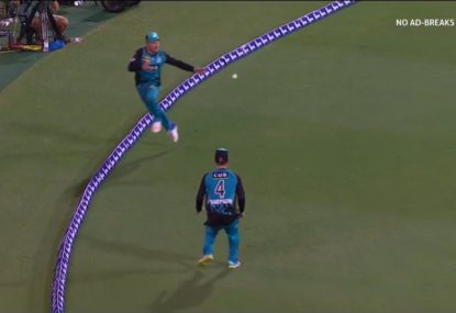 Sticky ball outfoxes Brendan McCullum to reach the boundary