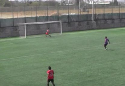 Goalie gets lobbed after nightmare clearing kick