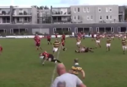 Unexpected synchronized hits is like a majestic rugby duet