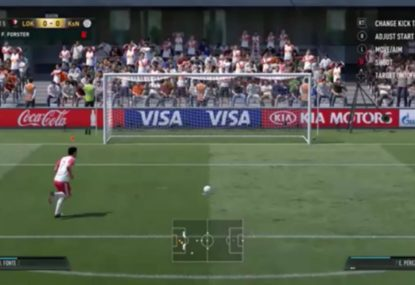 Bizarre FIFA glitch sees penalty scored without a goalkeeper