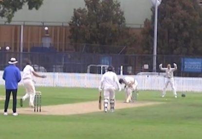 Hapless batsman cops unplayable ball that refuses to bounce