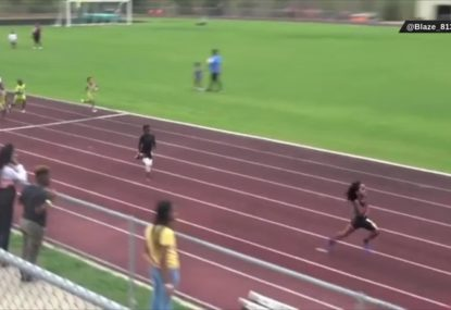 7-year-old lights up the track with unbelievable speed!