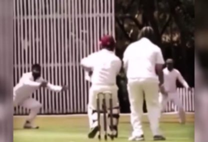 Off-spinner pulls off beautiful diving Lyon-esque caught and bowled