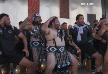 The Maori All Stars' blistering haka