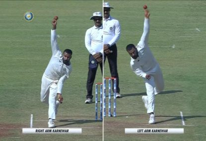 Indian left-arm spinner casually switches to his right mid-spell