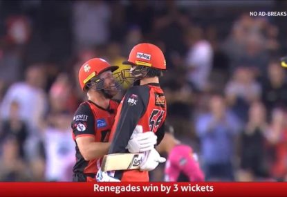 Dan Christian comes up clutch as Renegades pull off stunning heist