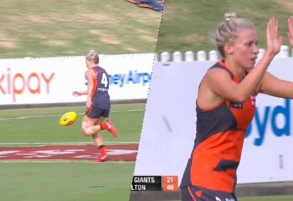 How was this GWS Giants goal allowed to stand?