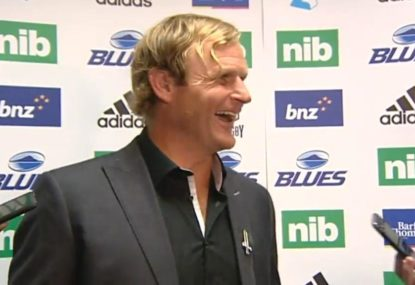 Crusaders coach Scott Robertson's cheeky dig at the Blues