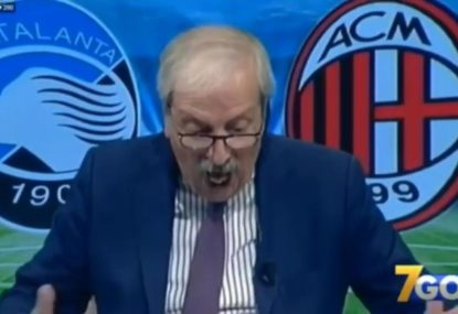 Italian TV Presenter loses all self-control throughout AC Milan's comeback win