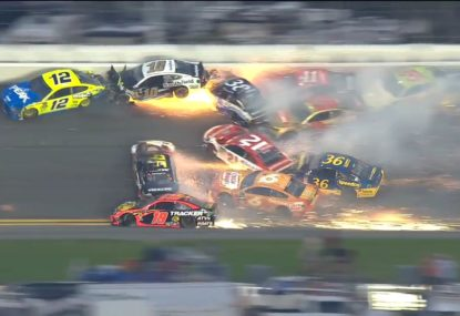 21 cars taken out in comically massive NASCAR crash