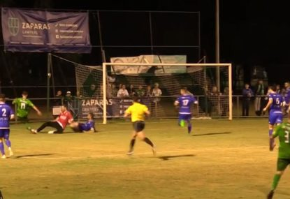 Footballer pulls off unbelievable ball-saving assist from the goal-line