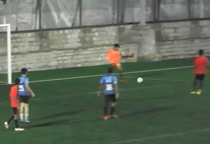 Goalie falls victim to hilarious gaffe at worst possible time