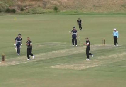 Batsman's brain department shuts down in hilariously terrible run-out