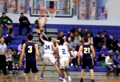 Pin-perfect pass results in CRAZY alley-oop