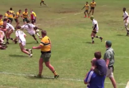 Halfback lands picture-perfect box kick try assist for hungry centre