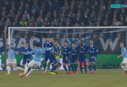 Leroy Sane's 'Beckham-like' free-kick helps save Man City in the Champions League