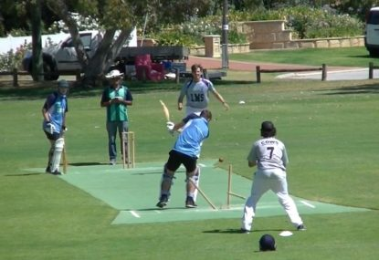 Tip-toeing bowler delivers a surprise seed that obliterates the stumps