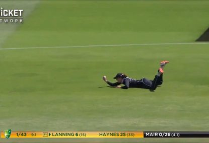 NZ skipper removes Meg Lanning with stunning slips catch