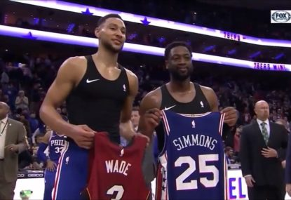 Dwyane Wade's touching praise for Ben Simmons after another stellar game