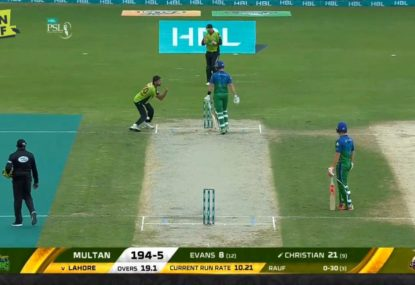 Pakistani paceman gives Dan Christian an almighty send-off after run out