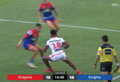 21-year-old Dragons rookie's stepping carves up the Knights