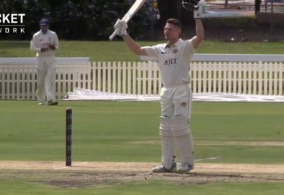 WATCH: Cameron Bancroft's fighting hundred on Shield return