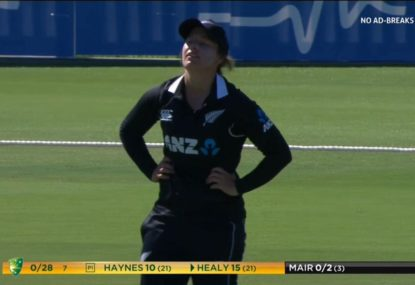 'Unsure how she dropped it!': Kiwi spills an absolute sitter